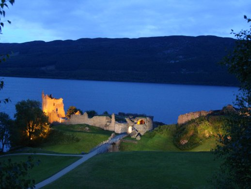 The crumbling (but is still £5 to get in) Urquart Castle overlooking Loch Ness.