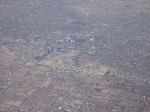 You can easily see McCarron Airport and The Strip is just to the north with all its casinos and shops.